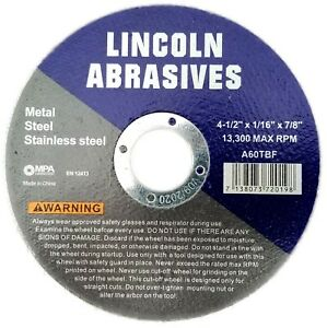 3000 Pc 4 1 2 X 1 16 X 7 8 Cut Off Wheels Stainless Steel Metal Cutting Discs