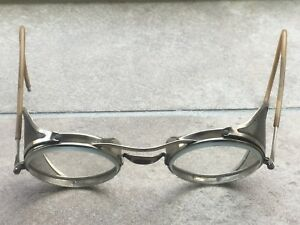 Vintage Safety Glasses Side Shields Vintage Motorcycle Steampunk