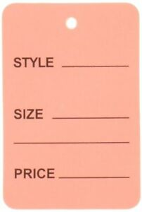 1000pcs Pink Color One Part Unstrung Perforated Price Coupon Tag Clothing Price