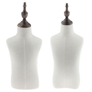 2 Sizes Children Kids Body Dress Form Mannequin Bust Torso Display Stand