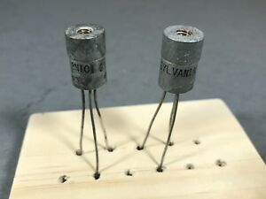 Rare Lot Of 2 Sylvania 2n101 Pnp Germanium Transistors Usa Seller