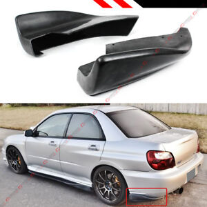 For 2005 07 Subaru Impreza Wrx Sti Cs Style Rear Bumper Side Aprons Valance Spat