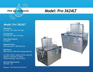 Ultrasonic Parts Cleaner W or Without Lift table Dual Filtration