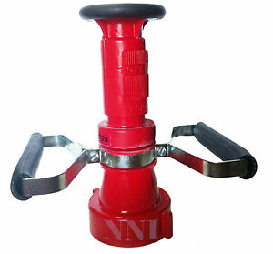 2 1 2 Nst Fire Hose Combination Fog Nozzle With Handles 150gpm