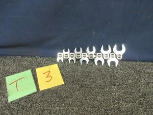 10pc Craftsman Crowsfoot Wrench Metric Tool 10 11 12 13 14 15 16 17 18 19 New