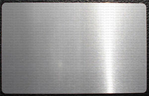 500pcs Silver Gray Blank Metal Business Cards Laser Marking Material a991 Lw