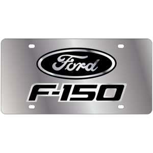 Ford F 150 Mirror Polished 3d Logo Finish Stainless Steel License Plate