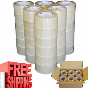 Box Carton Sealing Tape 36 Pack 2 110 Yards Packaging Package Shipping Clear
