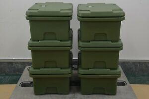 Lot Of 6 Cambro Top Load Deep Food Pan Carrier 180 Mpc 16333