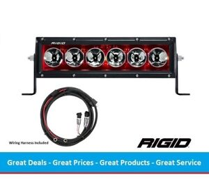 Rigid Industries Radiance Series 10 Inch Led Light Bar With Red Back Light