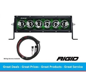 Rigid Industries Radiance Series 10 Inch Led Light Bar With Green Back Light