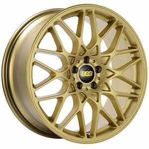 Bbs Rx r Gold Satin Wheel With Painted Finish 19x8 5 5x120mm 32mm Offset