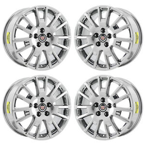 18 Cadillac Sts Pvd Chrome Wheels Rims Factory Oem Set 4631