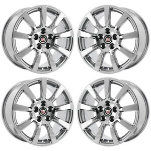 18 Cadillac Cts Pvd Chrome Wheels Rims Factory Oem Set 4628