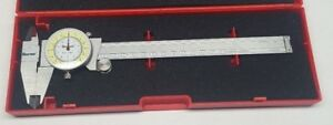 New Starrett 1202f 6 Fractional Dial Caliper With Case 0 6