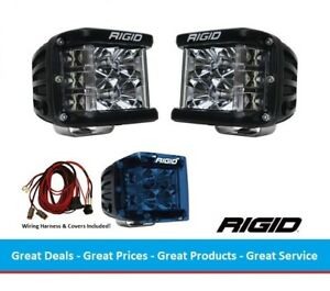 Rigid Industries Dually Ss Side Shooter Led Flood Light Optics With Blue Covers
