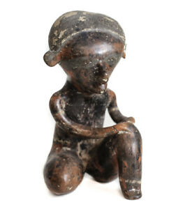 Pre Columbian Nayarit Mexico Pottery Seated Figure Chinesco Style