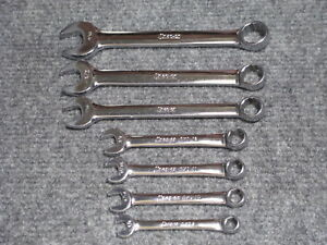 7 Nos Snap On Tools Oxi Midget Oex Short Combination 12 point Wrench Set