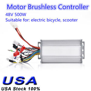 48v 500w 28a Brushless Motor Controller For E bike Scooter Electric Bicycle Us