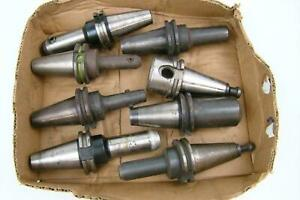 8 Lot Of Cat 40 Tool Holders