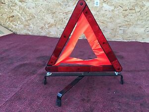 W Mercedes R230 Sl500 Road Side Safety Triangles Reflective Emergency Marker
