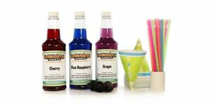 Hawaiian Shaved Ice Syrup 3 Flavor Fun Pack New Free Shipping