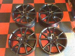 20 Matte Black Factory Oem Ferrari California Wheels Stock Rims Genuine Ff