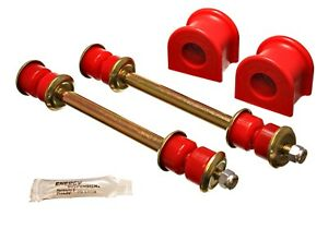 Energy Suspension 4 5157r Energy Suspension Sway Bar Bushing Set Red Front Fits