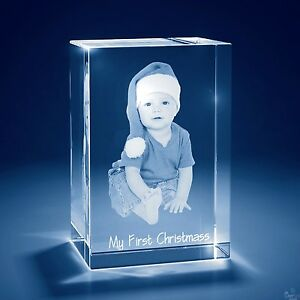 Christmas Laser Engraved 3d Crystal Personalized Gift Medium Tower Shape