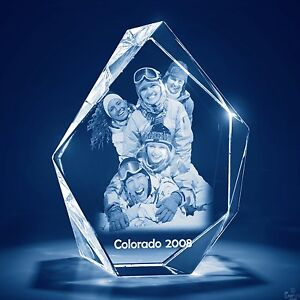 Christmas Laser Engraved Personalize 3d Crystal Glass Etched Gift Md Prestige