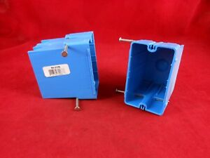 Thomas Betts Rn 21 fs box Of 100 Single Gang Outlet Box 3 3 8 Depth Blue
