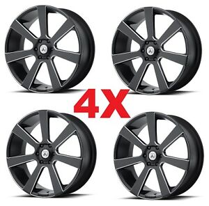 28 Inch 28x10 Asanti Wheels Rims Black Milled Set Of 4 6x135 Dub Forgiato
