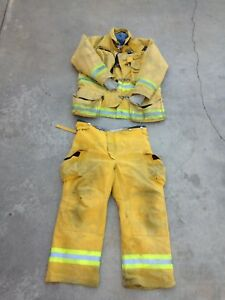 Coat And Pants Firefighter Turnout Bunker Fire Gear Liner Body Guard Xl Pants40
