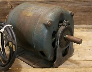 Vintage Century 1 4hp Electric Motor 1750rpm Single Phase 115 Volt Runs Great