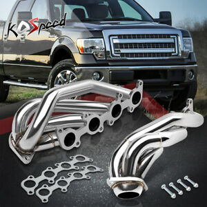 Stainless Small Block Polished Exhaust Header gasket For 11 14 F150 5 0l V8
