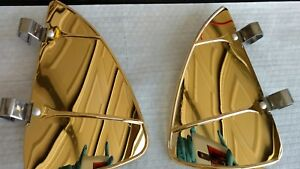 Vintage Style 24k Gold Plated Vent Wing Air Deflector Breeze Breezies Pair
