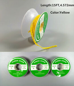 Dental Orthodontic Power Chain Super Elastic Rubber Bands Tie 15ft 4 57m Yellow