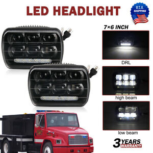 2pcs 100w 5x7 7x6 Led Headlights Hi lo Beam Drl Replacement Jeep Cherokee Xj