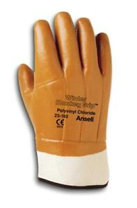 Ansell Winter Monkey Grip Vinyl coated Gloves 12 Pairs