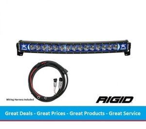 Rigid Industries Radiance Curved 30 Inch Led Light Bar With Blue Back light