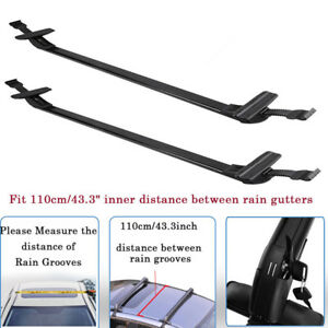 1100mm 43 Universal Car Top Roof Rack Cross Bars Aluminum Alloy Aero Lockable