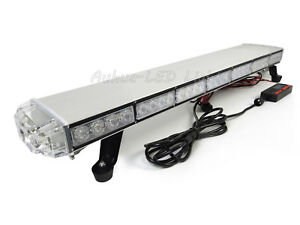 33 62w Amber White Led Warning Emergency Beacon Tow plow Truck Strobe Light Bar