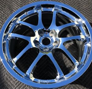 1 new Chrome 19 Infiniti G35 Coupe Rays Engineering Forged Oem Wheel Rim 73684