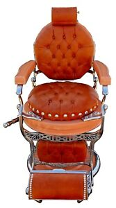 Antique 1920s Art Deco Style Double Koken Barber Chair Fully Restored