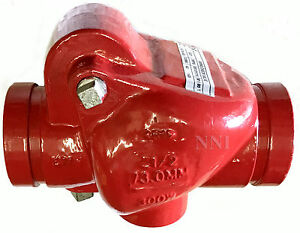 2 1 2 Check Valve 300psi Spring Loaded Grooved Ends Ul fm Fire Protection