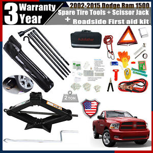 For Dodge Ram 1500 Assistance Car Emergency First Aid Kit Spare Tire Tools Kit
