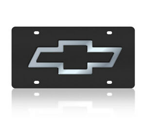 Chevrolet Bowtie Genuine Carbon Stainless Steel 3d Logo License Plate