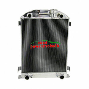 Full Aluminum 3row 1932 Ford Radiator Flathead Tuck V8 Engine Direct Replacement