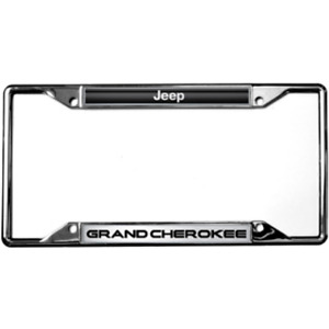 Jeep Grand Cherokee Metal Zinc License Plate Frame Tag Holder Official Licensed