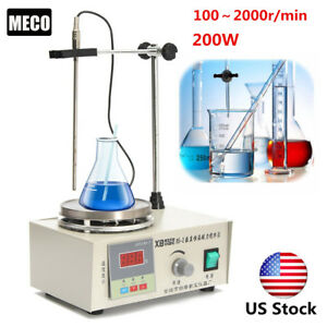 Us 85 2 Magnetic Stirrer With Heating Plate Hotplate Digital Heating Lab Mixer